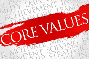 Clearly defined values keep us grounded.